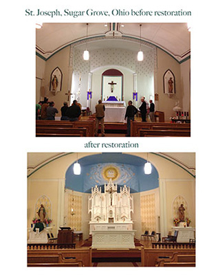St. Joseph Catholic ChurchSugar Grove, OH before and after pictures
