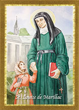 St louise de marillac prayer card teresa satola for Maillesac housse