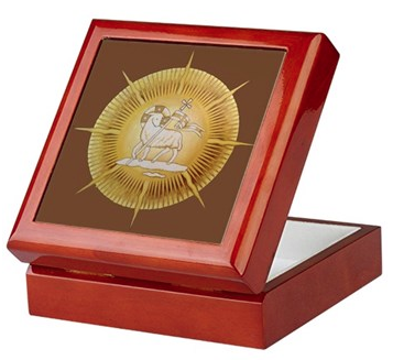 Lamb in Glory Keepsake/Rosary Box by Teresa Satola, Ltd.