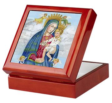Our Lady of Divine Grace keepsake/rosary box by Teresa Satola, Ltd.