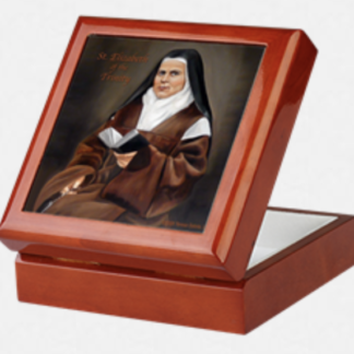 St. Elizabeth of the Trinity Keepsake Rosary Box