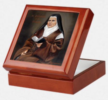 St. Elizabeth of the Trinity Keepsake Rosary Box