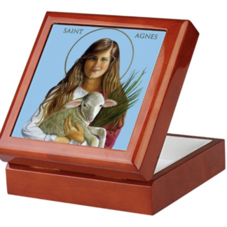 St. Agnes Keepsake/Rosary box